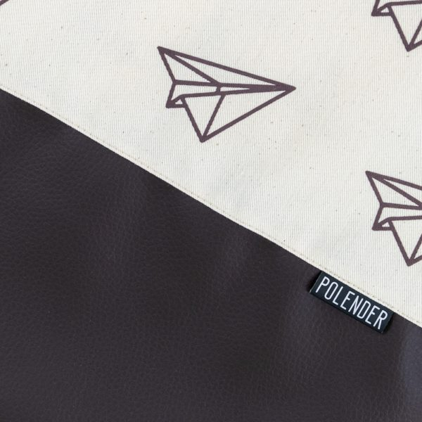 Print paper planes on handmade drawstring bag