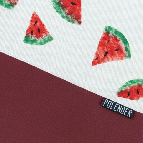 Print Watermelon on handmade drawstring bag