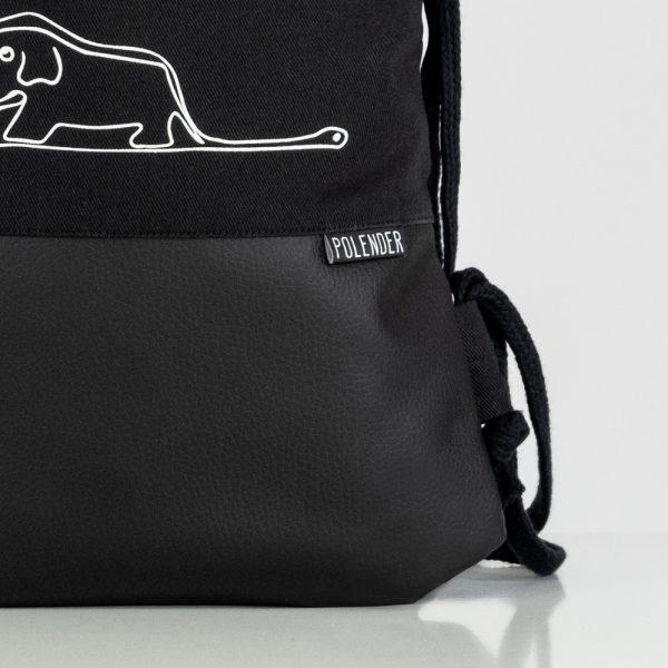 Eco-Leather handmade drawstring bag with print Little Prince