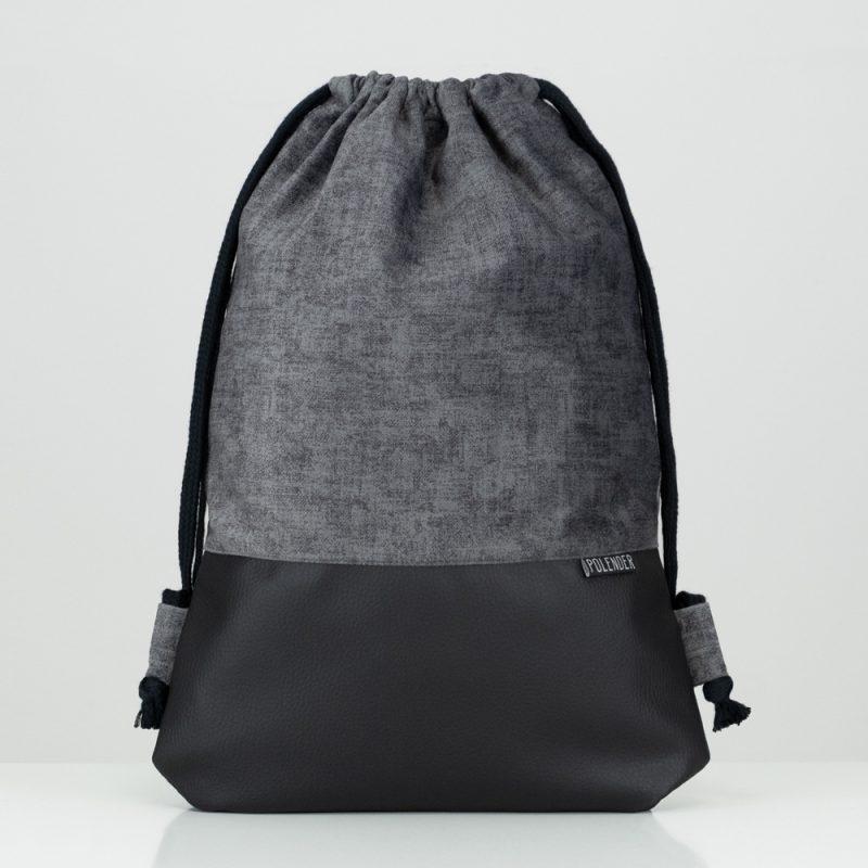 Handmade drawstring bag SOFT SHADE OF GRAY