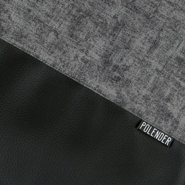 Cotton, Twill, and Eco-Leather drawstring bag with Polender logo