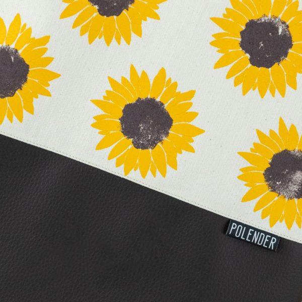 Print Sunflower on handmade drawstring bag