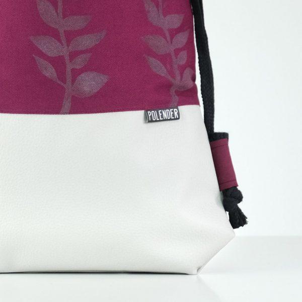 Eco-Leather handmade drawstring bag fern Polender