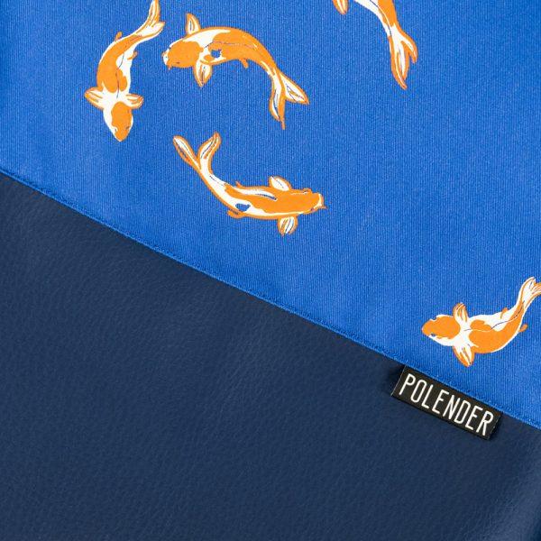 Print Royal Koi Fish On Drawstring Bag