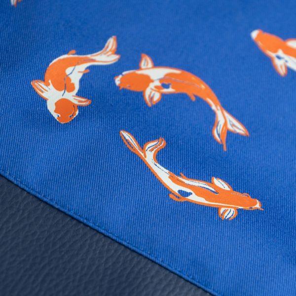 Royal Koi Fish Print on Drawstring Bag