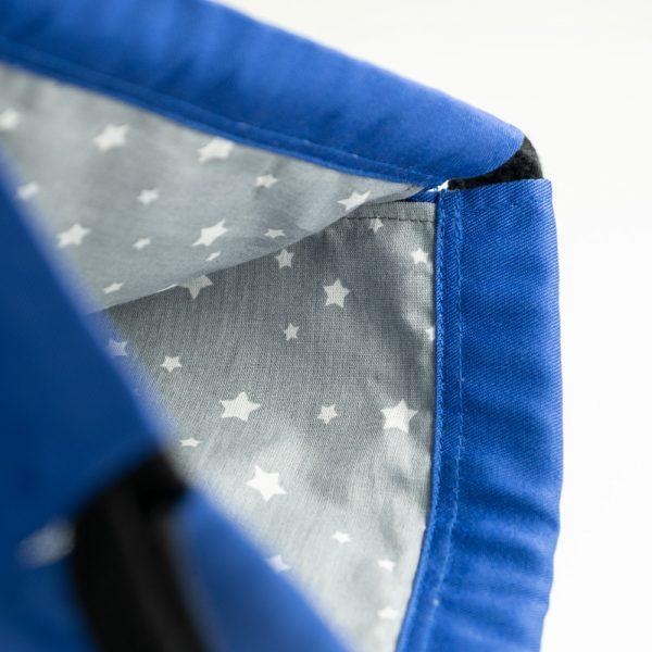 Handmade drawstring bag cord inside