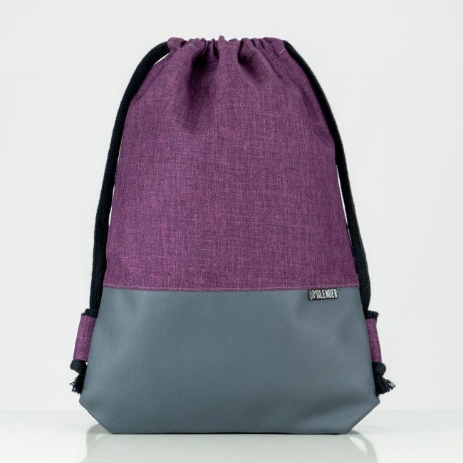 Handmade drawstring bag ultra violet