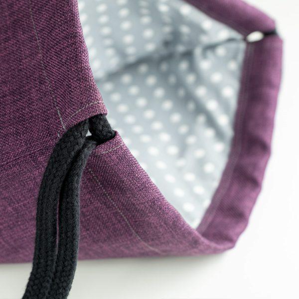 Handmade drawstring bag rope