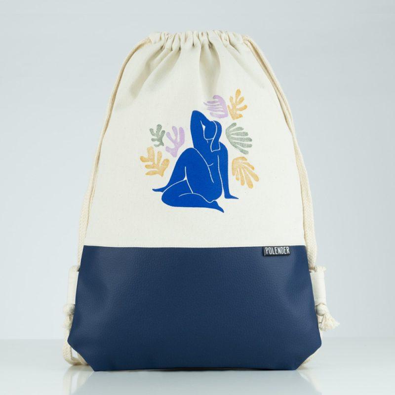 Eco-Leather handmade drawstring bag Henri Matisse