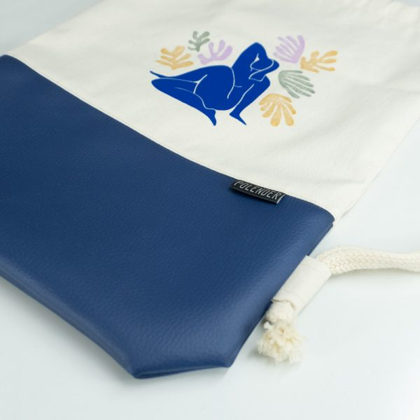 Henri Matisse Eco-Leather Drawstring bag with cord