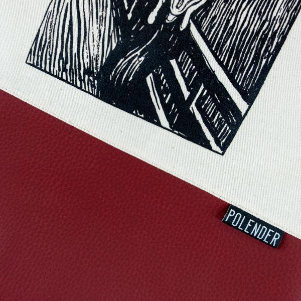 The Scream Print on Drawstring Bag