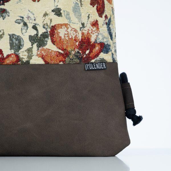 Eco-Leather handmade drawstring bag